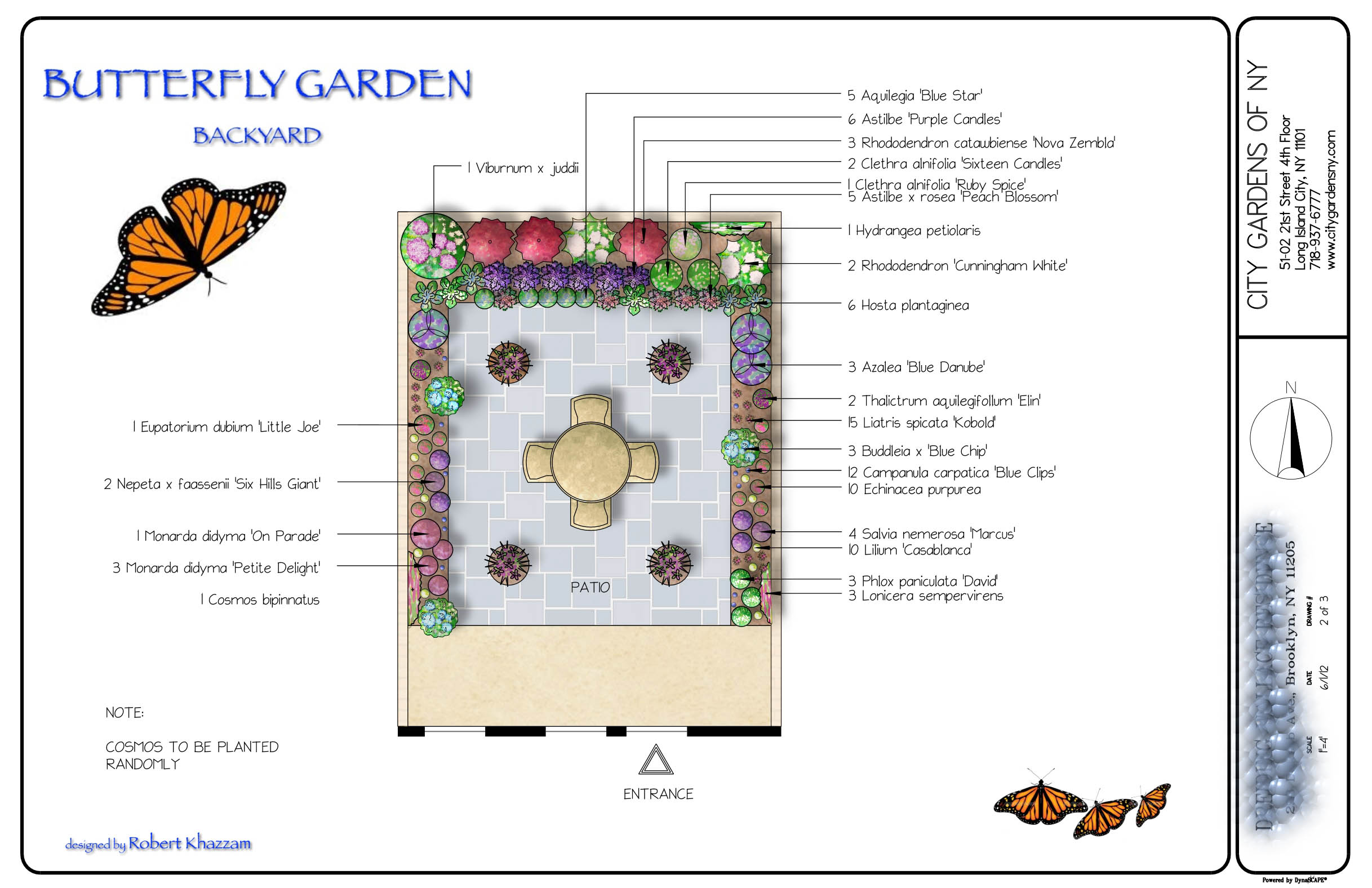 Butterfly garden city gardens of ny for Butterfly garden plans designs